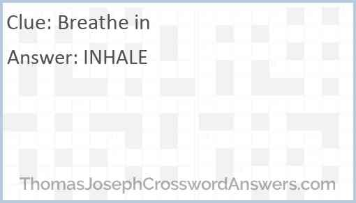 Breathe in Answer