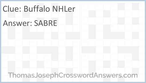Buffalo NHLer Answer
