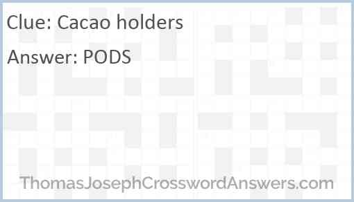 Cacao holders Answer