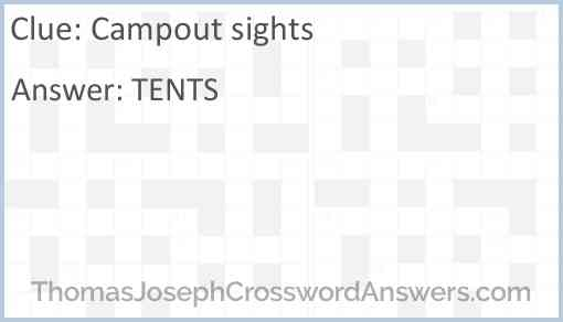 Campout sights Answer