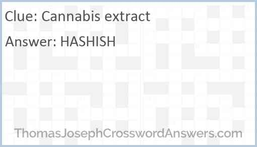 Cannabis extract Answer