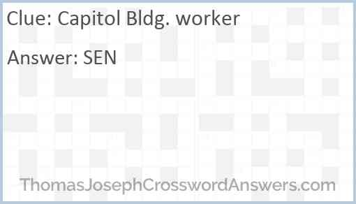 Capitol Bldg. worker Answer
