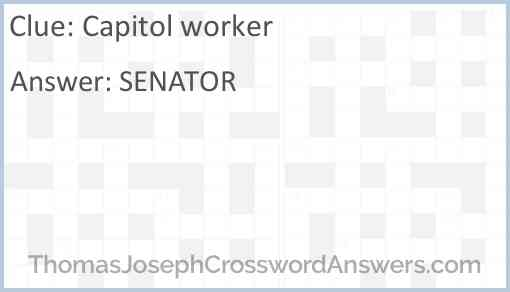 Capitol worker Answer