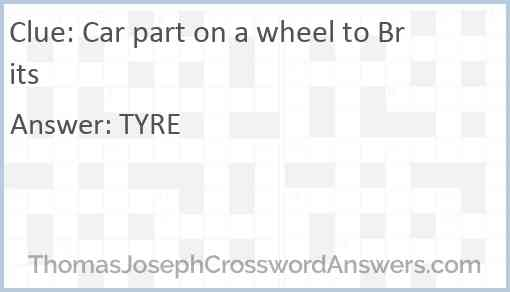 Car part on a wheel to Brits Answer