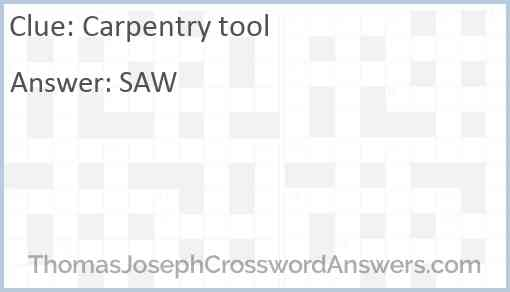 Carpentry tool Answer