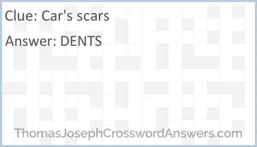 Cars' scars Answer