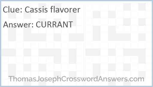Cassis flavorer Answer