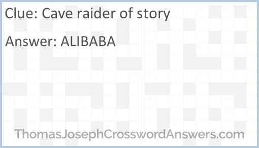 Cave raider of story Answer