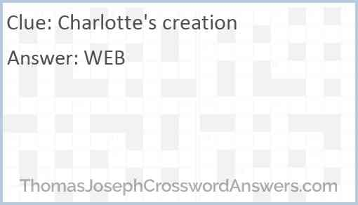 Charlotte's creation Answer