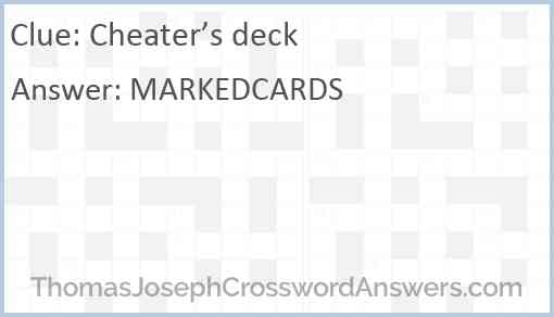 Cheater's deck Answer