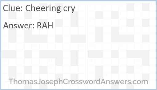 Cheering cry Answer