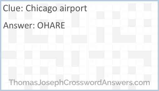Chicago airport Answer