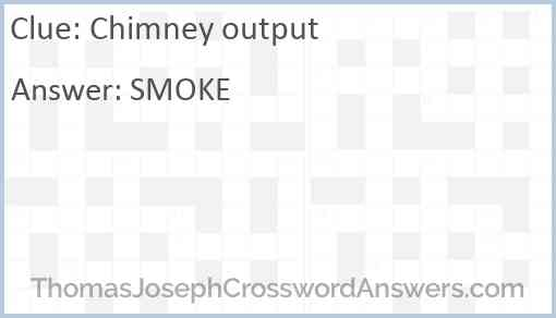 Chimney output Answer