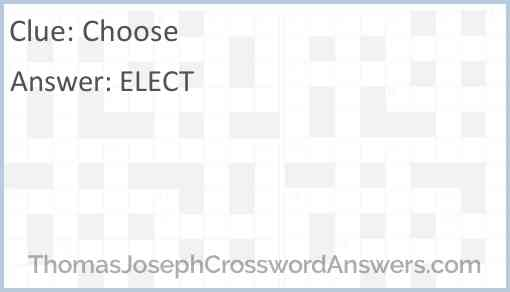 Choose Answer