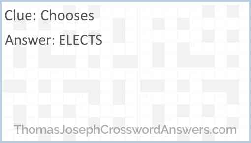 Chooses Answer