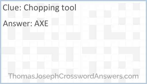 Chopping tool Answer