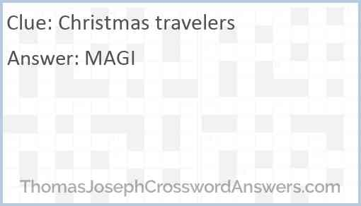 Christmas travelers Answer