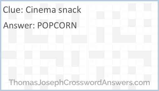 Cinema snack Answer