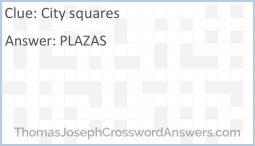 City squares Answer