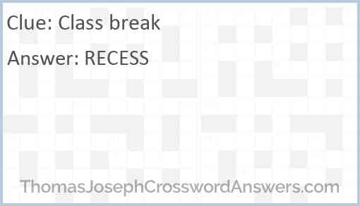 Class break Answer