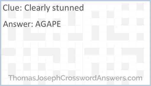 Clearly stunned Answer