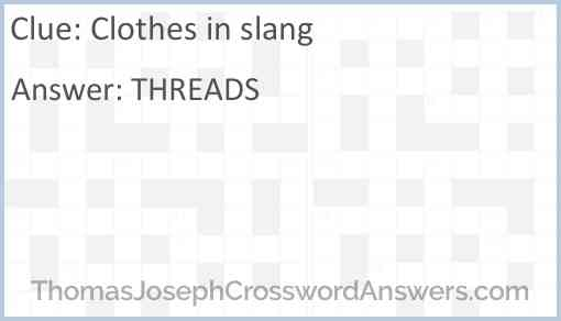 Clothes in slang Answer