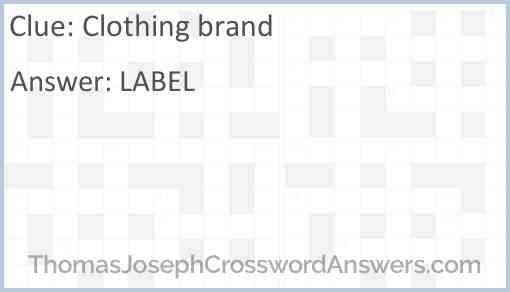 Clothing brand Answer