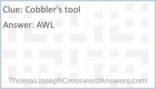 Cobbler's tool Answer