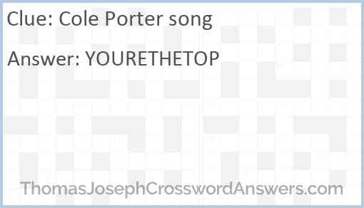 Cole Porter song Answer