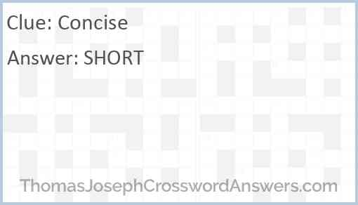 Concise Answer