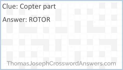 Copter part Answer
