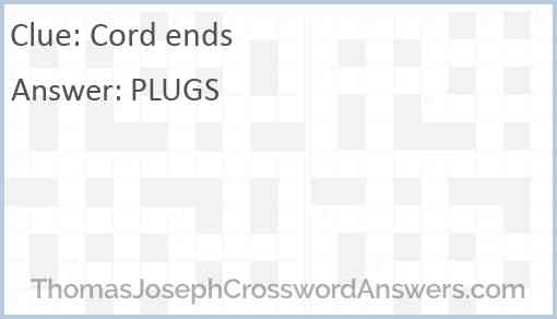 Cord ends Answer