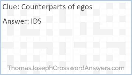 Counterparts of egos Answer
