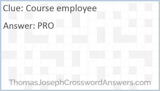 Course employee Answer