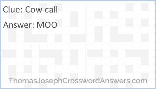 Cow call Answer