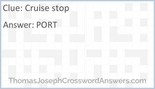 Cruise stop Answer