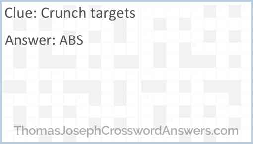 Crunch targets Answer
