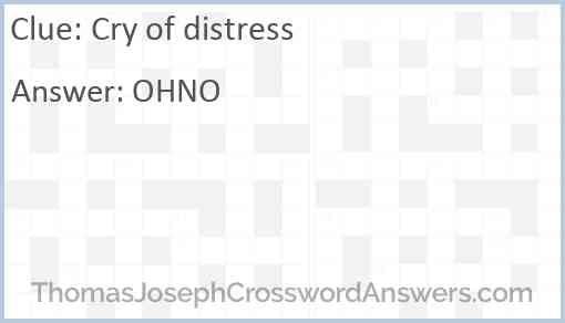 Cry of distress Answer
