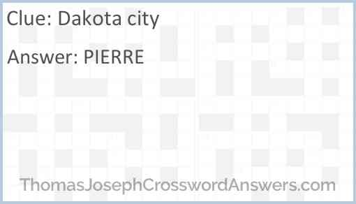 Dakota city Answer