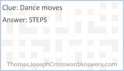 Dance moves Answer