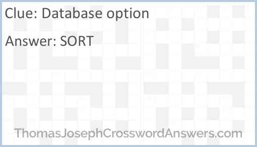 Database option Answer