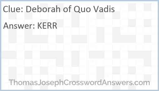Deborah of Quo Vadis Answer