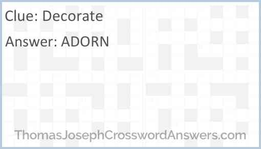 Decorate Answer