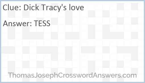 Dick Tracy's love Answer
