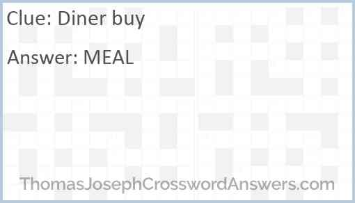 Diner buy Answer