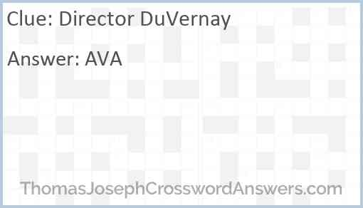 Director DuVernay Answer