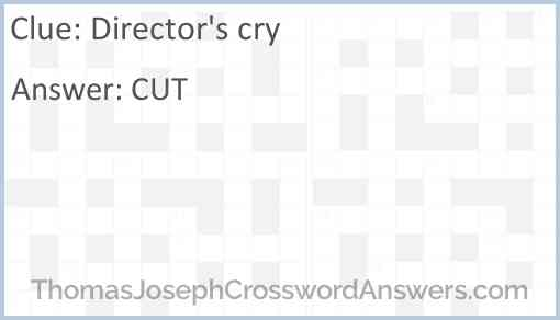 Director's cry Answer