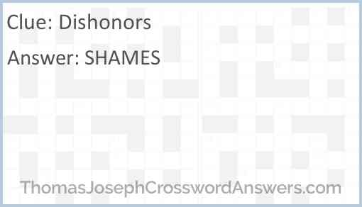 Dishonors Answer