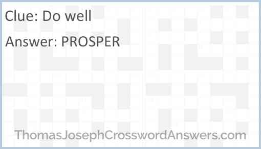 Do well Answer