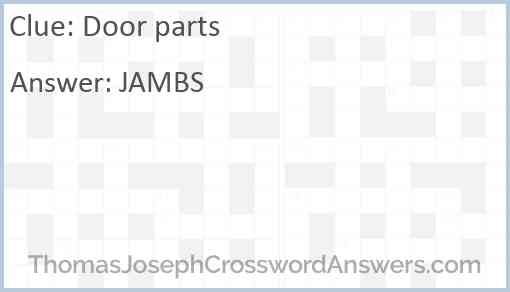 Door parts Answer